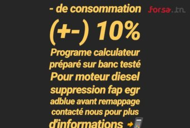 Reprogramation calculateur moteur stage 1 Sousse Tunisie
