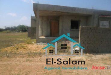 منزل للبيع في طور البناء بدار علوش مطل