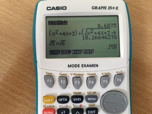 Casio Graph 35+ E Calculatrice graphique USB avec mode examen