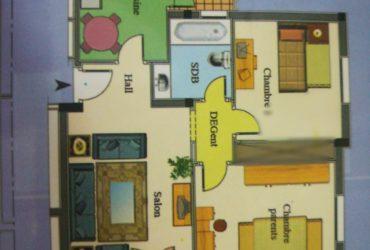 Appartement S+2 à Ennkhilet en excellent état