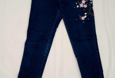pantalon jean femme taille haute chic