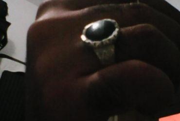 120 TND خاتم عين الهر فضة قديم