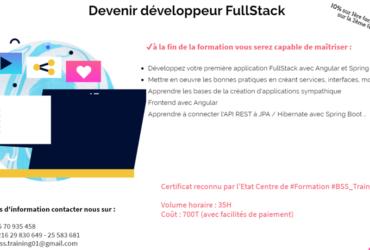Formation en Fullstack (Spring boot et angular8)