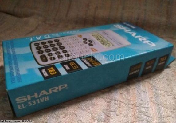 à vendre calculatrice scientifique SHARP E-531VH  presque neuve dans son emballage d'origine