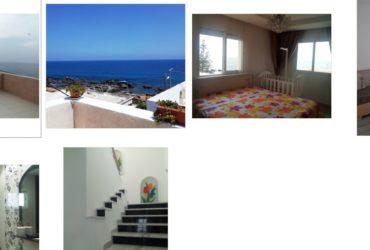 Location maison S+3 vue sur mer à Kelibia Mansoura