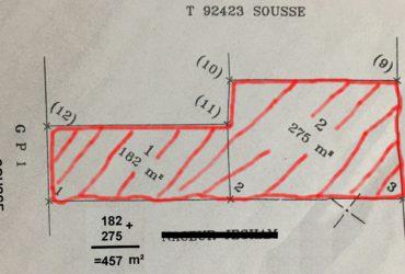 Privé: Terrain commercial immatriculé Hammam sousse GP1.