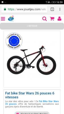 Vélo importé