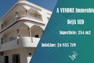 A vendre Immeuble titré  à Béja centre