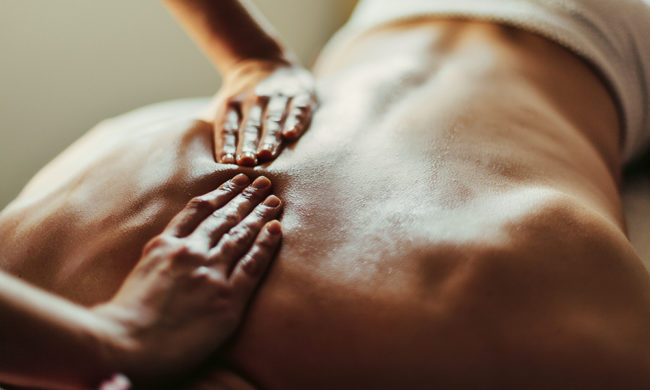 Douce massage l'art de touche
